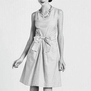 Kate Spade Jillian Stripes Gray White Dress